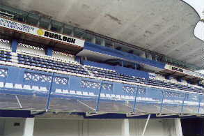 estadio: vista de la tribuna/platea techada